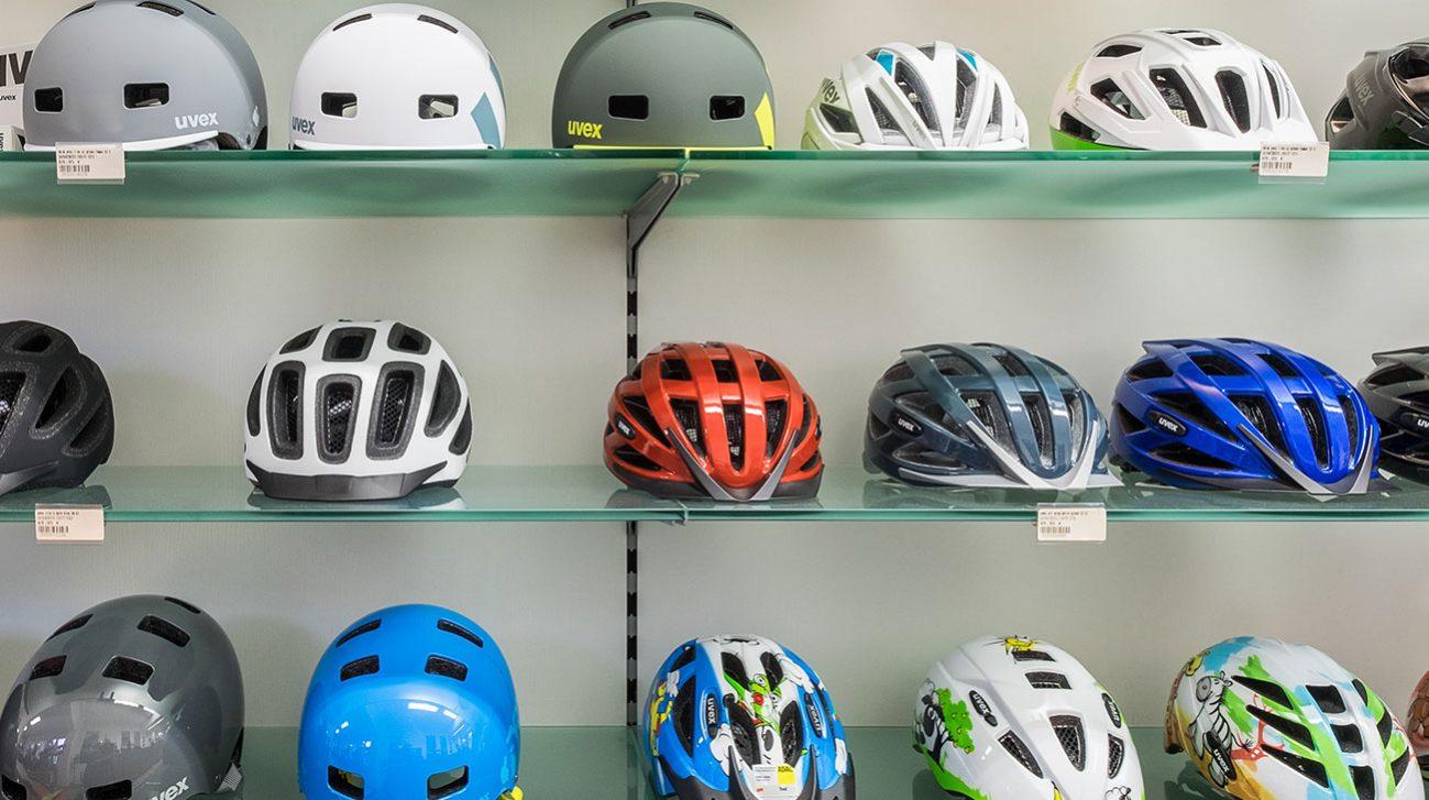 Bike-Shop Freiburg Uvex-Helme Sortiment