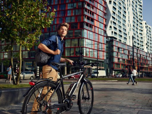 E-Bike von Koga in der City